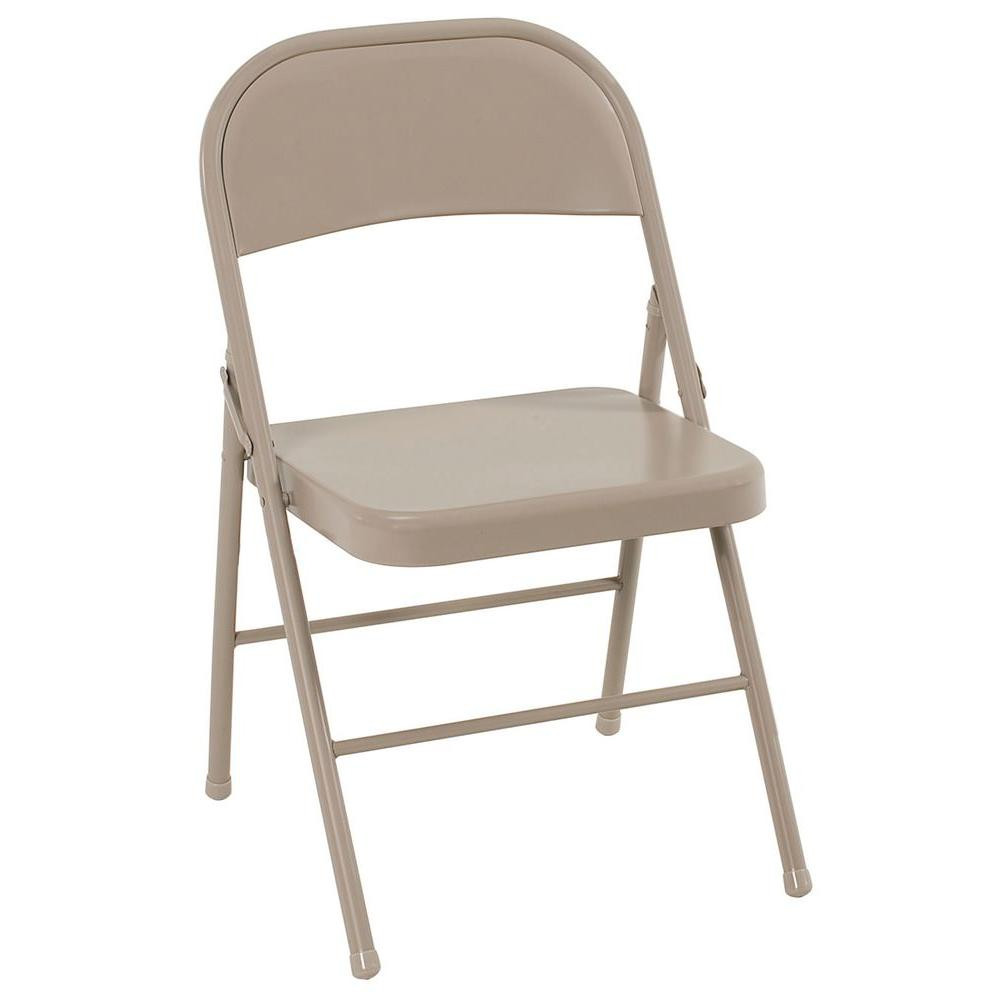 Best ideas about Metal Folding Chair . Save or Pin Cosco Antique Linen All Steel Folding Chairs 4 Pack Now.
