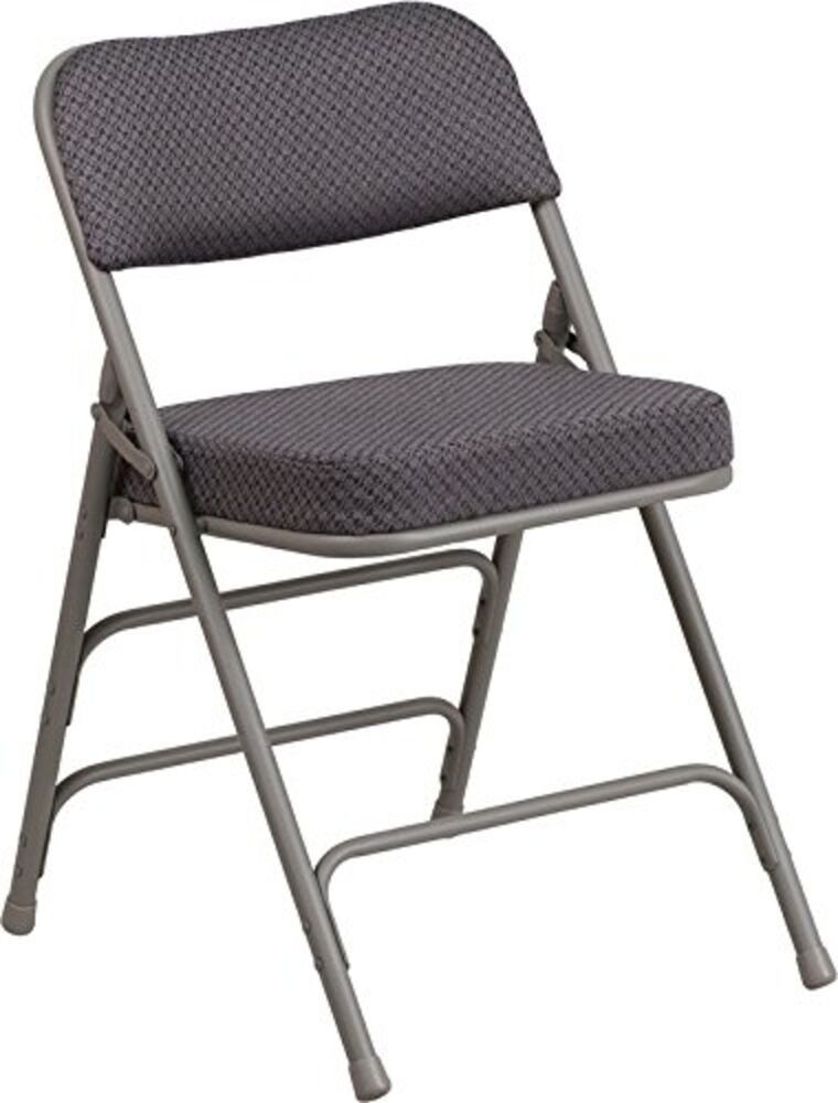 Best ideas about Metal Folding Chair . Save or Pin Triple Braced & Quad Hinged Gray Fabric Upholstered Metal Now.