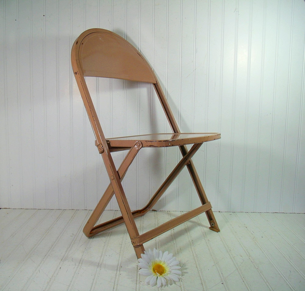 Best ideas about Metal Folding Chair . Save or Pin Vintage Child Size Metal Folding Chair Retro Furniture from Now.