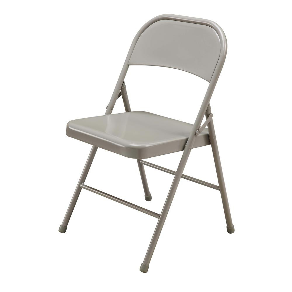 Best ideas about Metal Folding Chair . Save or Pin Beige Steel Folding Chair SC004X001A The Home Depot Now.