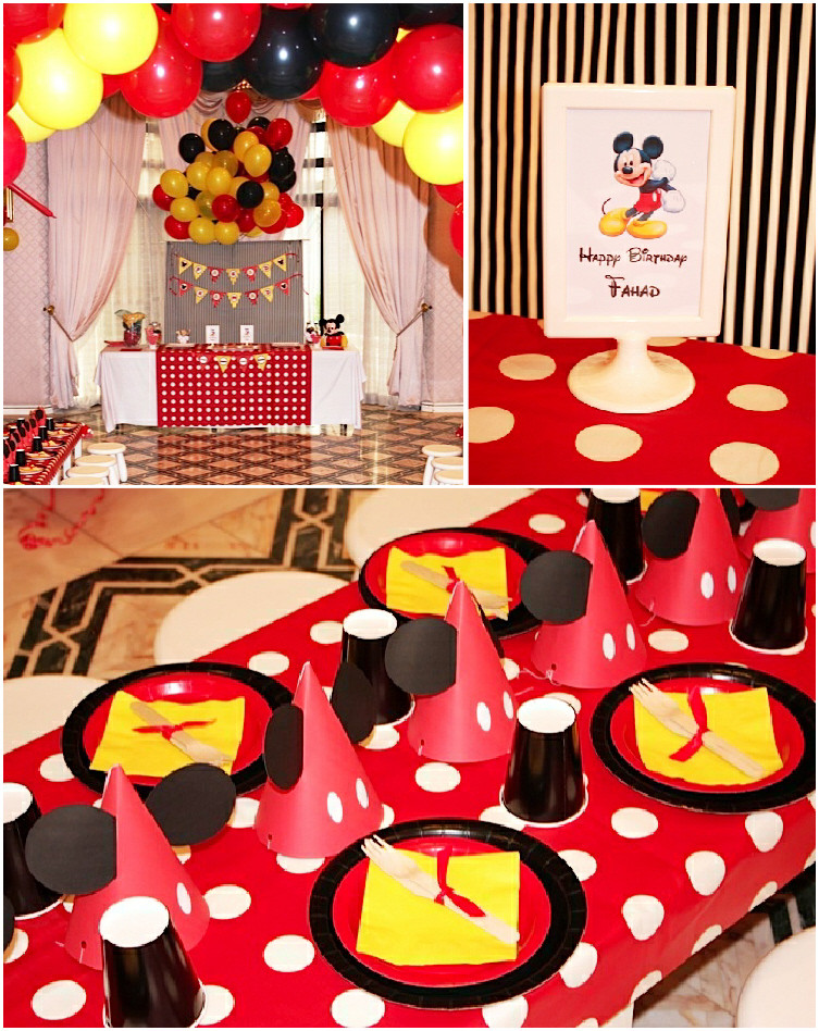 Best ideas about Mickey Mouse Birthday Decorations . Save or Pin A Retro Mickey Inspired Birthday Party Party Ideas Now.