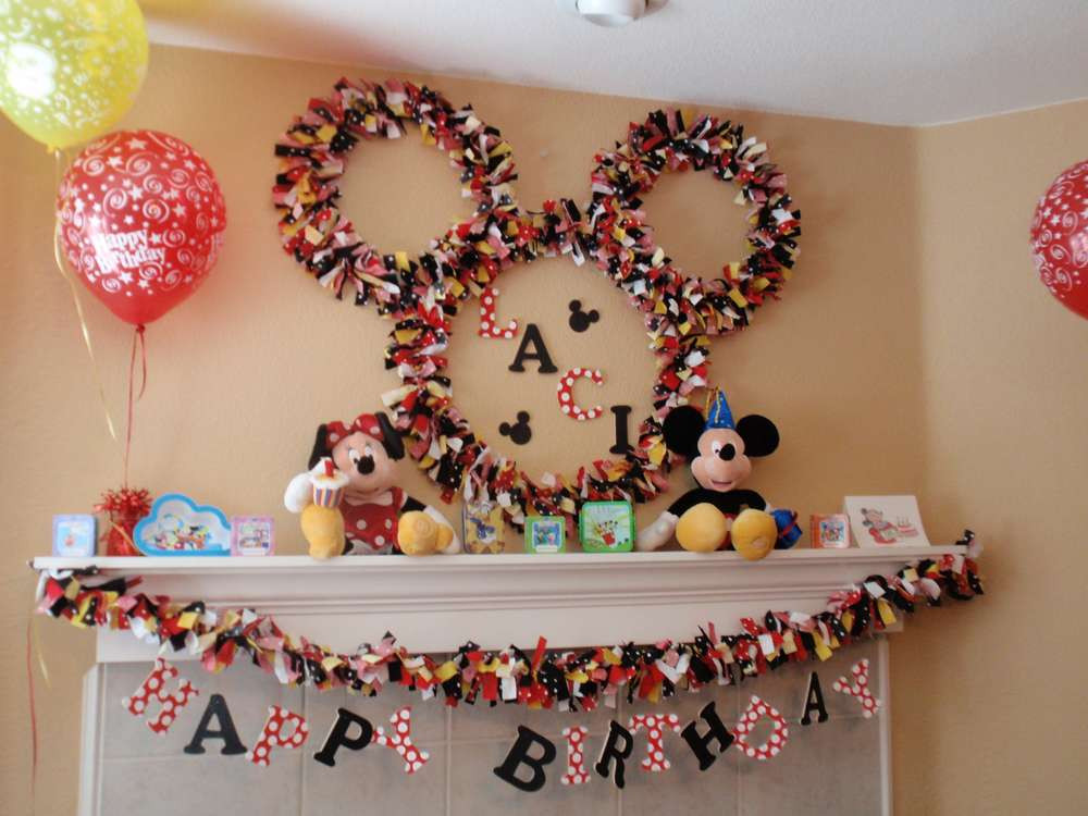 Best ideas about Mickey Mouse Birthday Decorations . Save or Pin Disney Mickey Mouse Birthday Party Ideas Now.