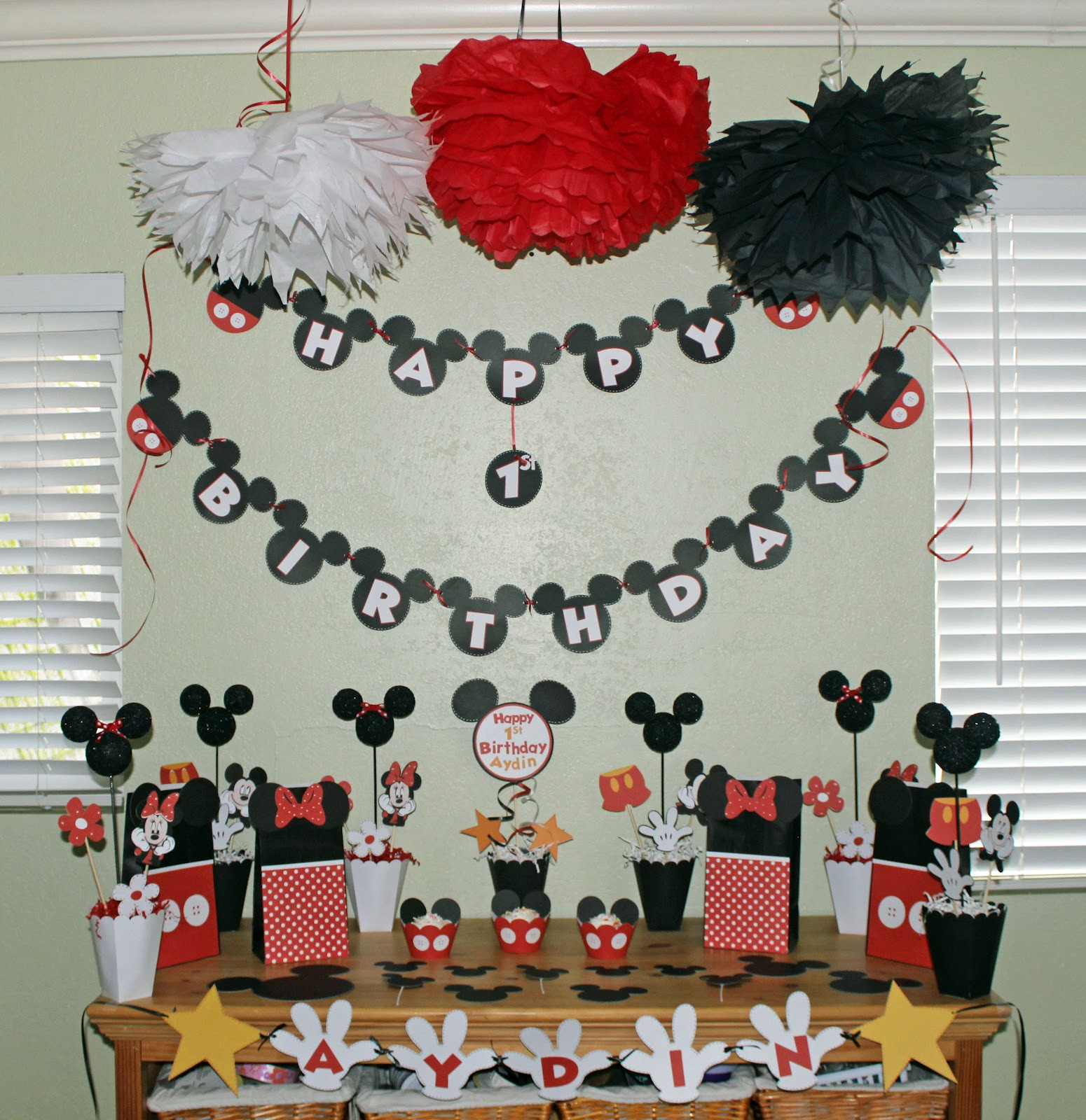 Best ideas about Mickey Mouse Birthday Decorations . Save or Pin disney party Now.