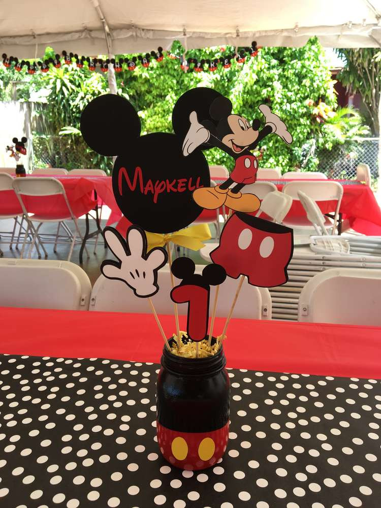 Best ideas about Mickey Mouse Birthday Decorations . Save or Pin Mickey Mouse Birthday Party Ideas 8 of 14 Now.