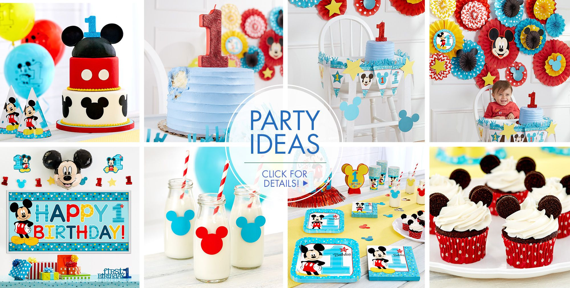 Best ideas about Mickey Mouse Birthday Party Supplies . Save or Pin Mickey Mouse 1st Birthday Party Supplies Now.