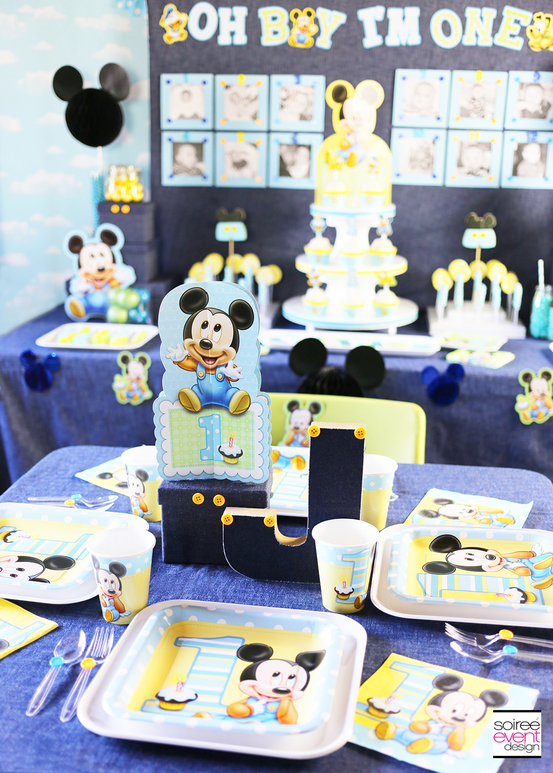Best ideas about Mickey Mouse Birthday Party Supplies . Save or Pin Mickey Mouse First Birthday Party Ideas Soiree Event Design Now.