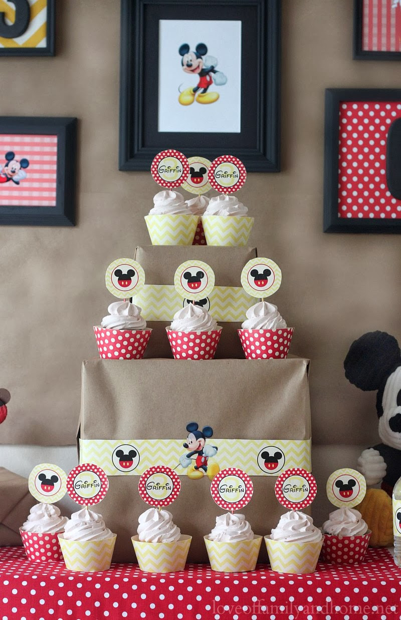 Best ideas about Mickey Mouse Birthday Party Supplies . Save or Pin 5M Creations Mickey Mouse Party Decorations Chevron and Now.