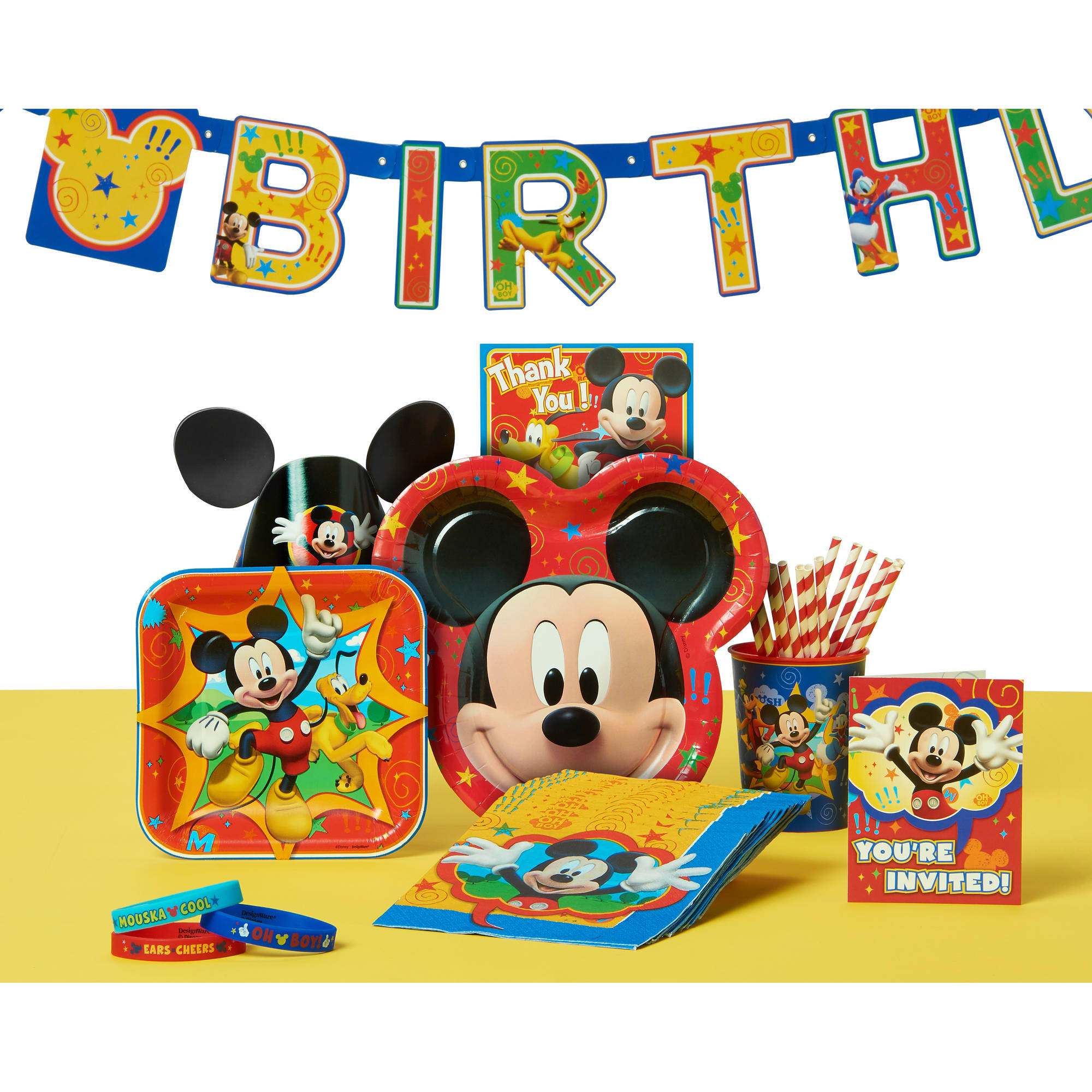 Best ideas about Mickey Mouse Birthday Party Supplies . Save or Pin Mickey Mouse Party Supplies Walmart Now.