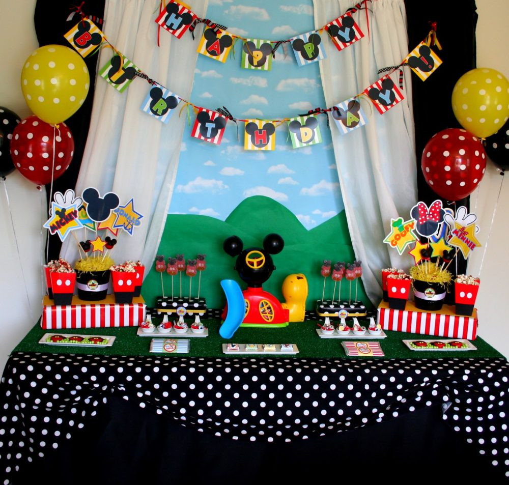 Best ideas about Mickey Mouse Clubhouse Birthday Decorations . Save or Pin 40 Mickey Mouse Party Ideas Mickey s Clubhouse Pretty Now.