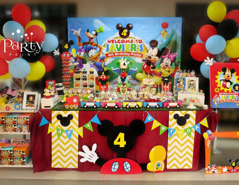 "Best ideas about Mickey Mouse Clubhouse Birthday Decorations . Save or Pin Mickey Mouse Clubhouse Birthday ""Javier s 4th Birthday Now."