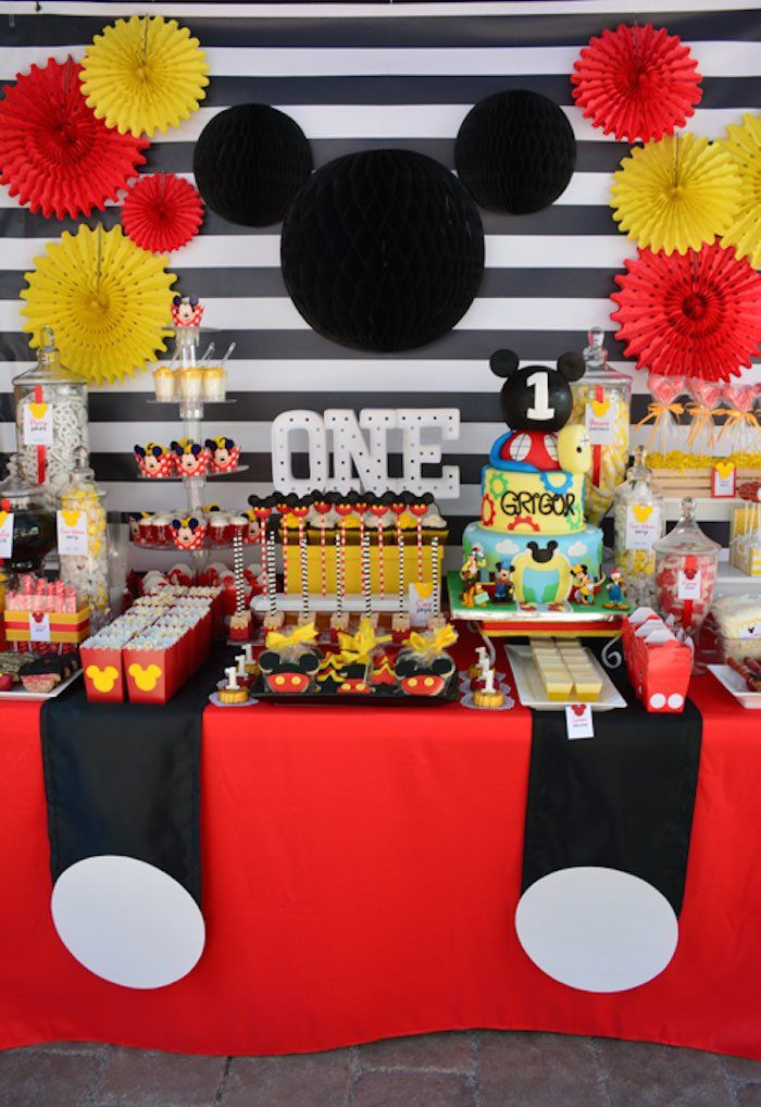 Best ideas about Mickey Mouse First Birthday Decorations . Save or Pin Mickey Mouse 1st Birthday Party Now.