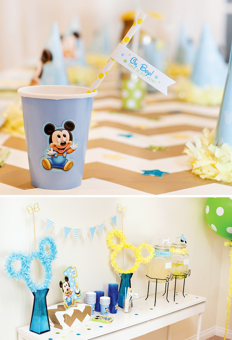 Best ideas about Mickey Mouse First Birthday Decorations . Save or Pin Creative Mickey Mouse 1st Birthday Party Ideas Free Now.