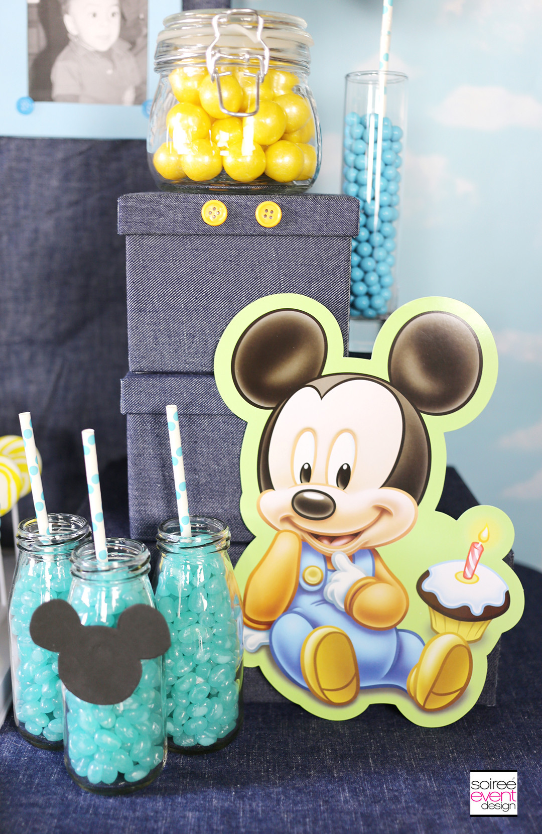 Best ideas about Mickey Mouse First Birthday Decorations . Save or Pin Mickey Mouse First Birthday Party Ideas Soiree Event Design Now.