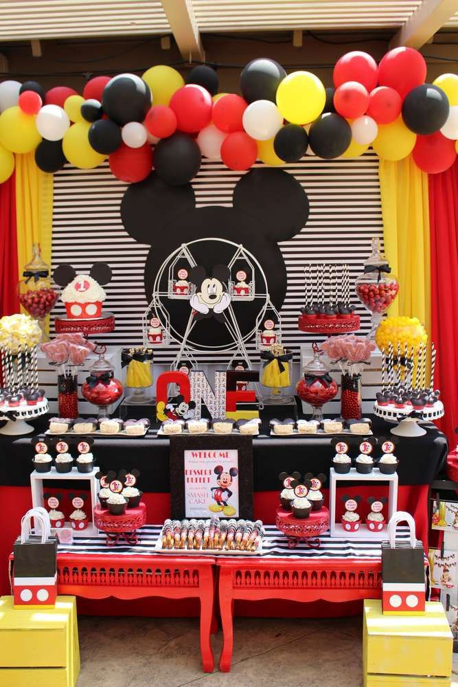Best ideas about Mickey Mouse First Birthday Decorations . Save or Pin 841 best Mickey Mouse Party Ideas images on Pinterest Now.