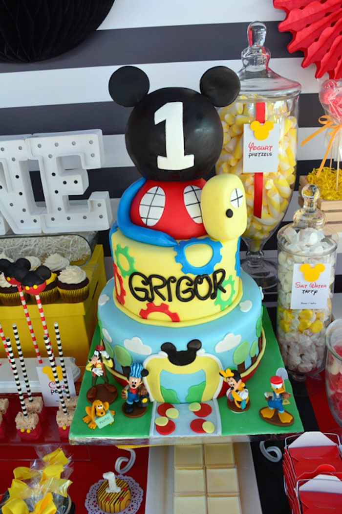 Best ideas about Mickey Mouse First Birthday Decorations . Save or Pin Kara s Party Ideas Mickey Mouse 1st Birthday Party Now.