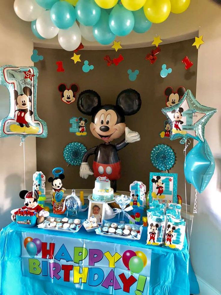 Best ideas about Mickey Mouse First Birthday Decorations . Save or Pin Best 25 Mickey mouse balloons ideas on Pinterest Now.