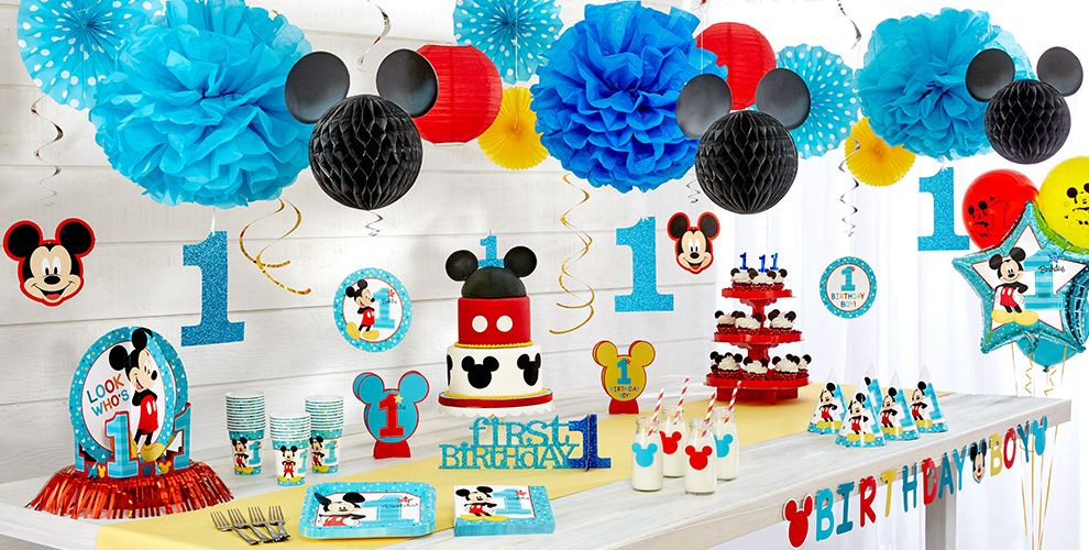 Best ideas about Mickey Mouse First Birthday Decorations . Save or Pin Mickey Mouse 1st Birthday Party Supplies Now.