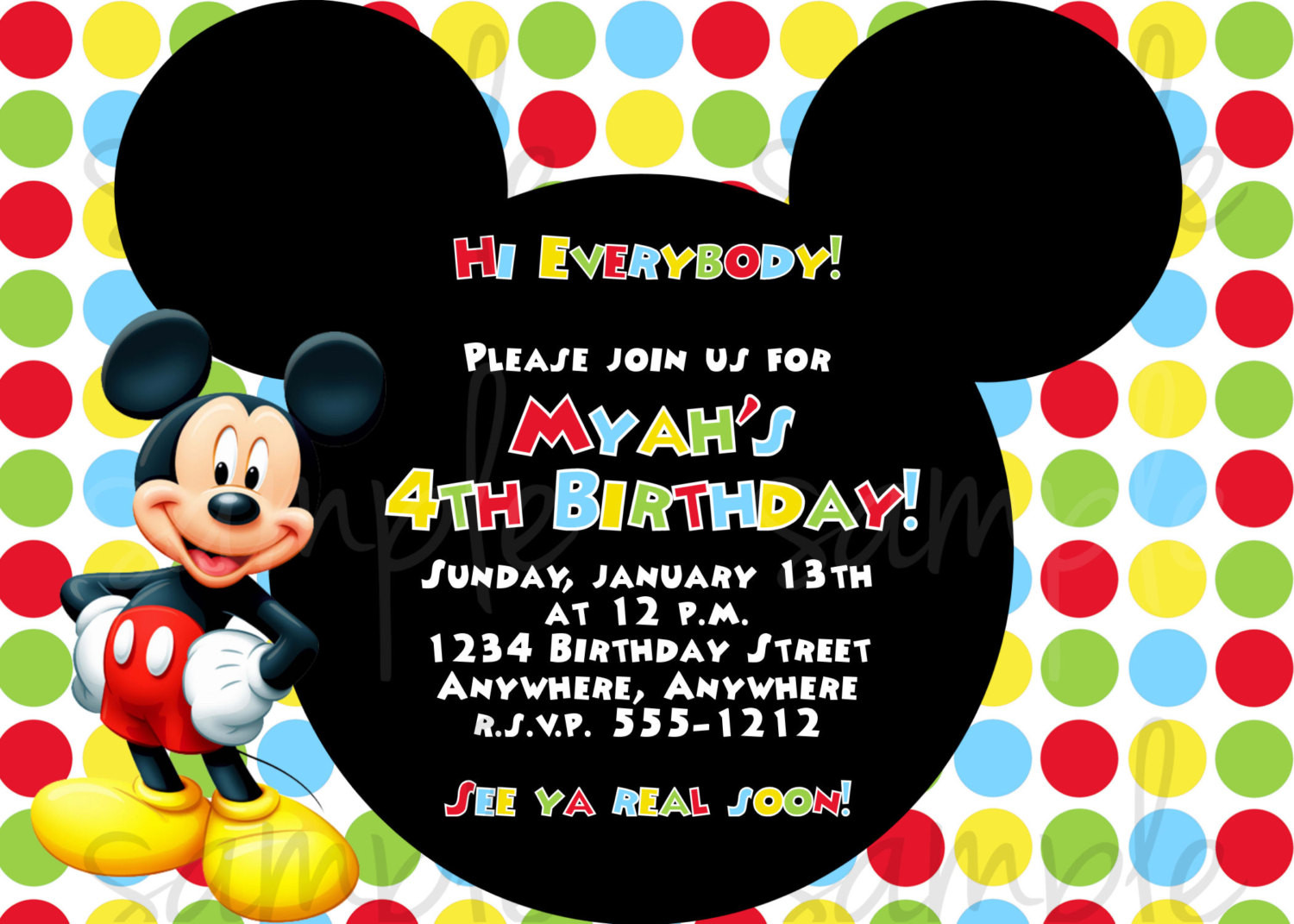 Best ideas about Mickey Mouse Photo Birthday Invitations . Save or Pin Mickey Mouse Birthday Invitation Now.