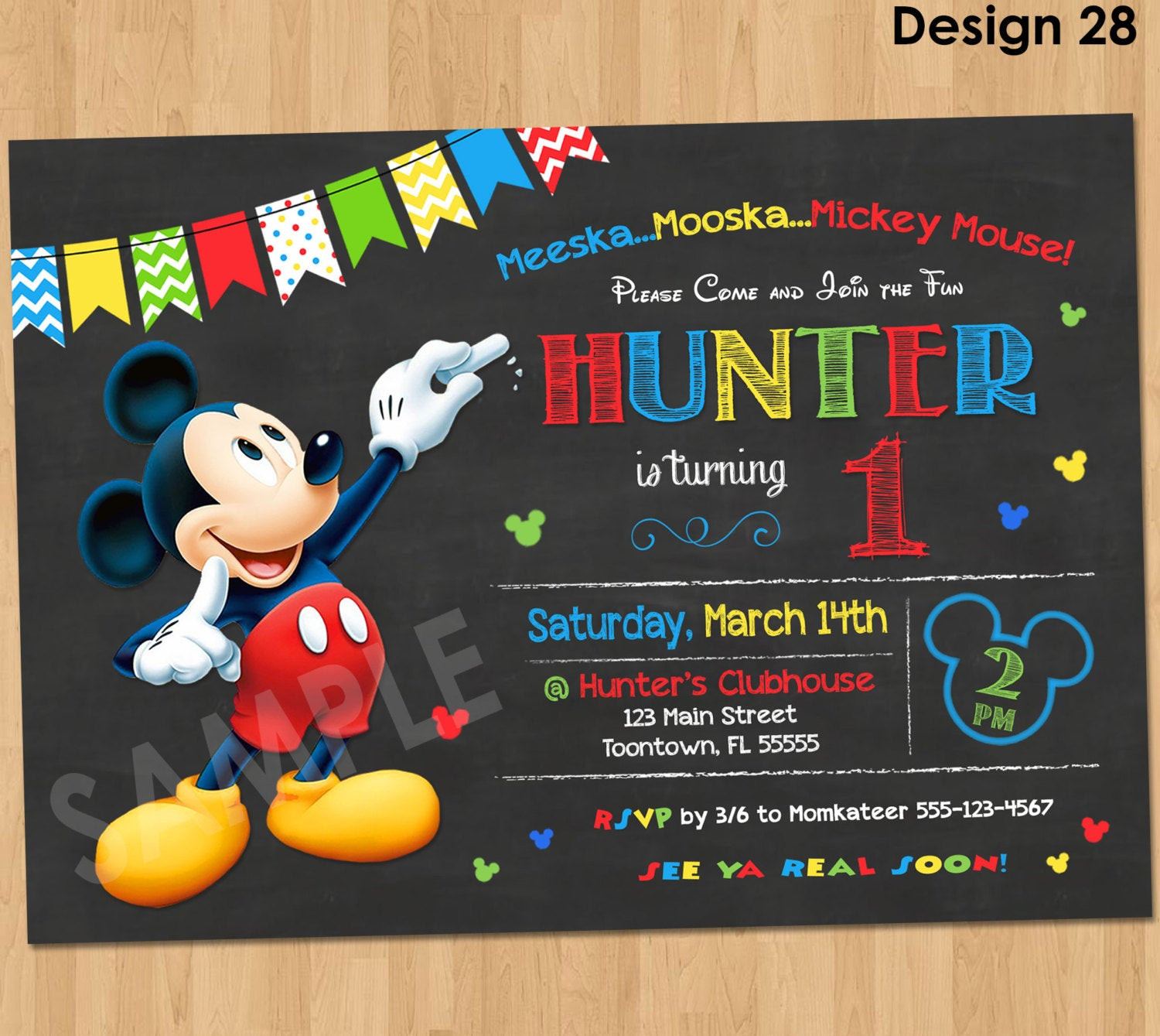 Best ideas about Mickey Mouse Photo Birthday Invitations . Save or Pin Mickey Mouse Birthday Invitation Mickey Mouse Clubhouse Now.