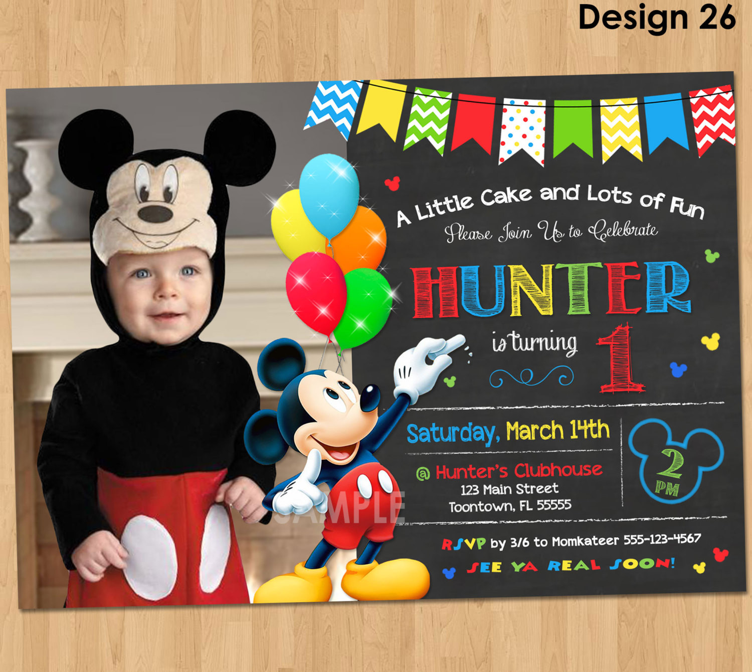 Best ideas about Mickey Mouse Photo Birthday Invitations . Save or Pin Mickey Mouse Clubhouse Invitations for Special Birthday Now.