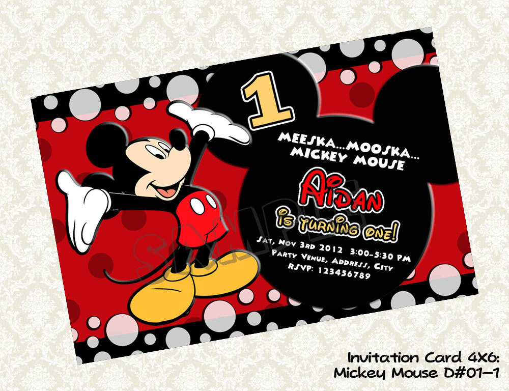 Best ideas about Mickey Mouse Photo Birthday Invitations . Save or Pin FREE Printable 1st Mickey Mouse Birthday Invitations Now.