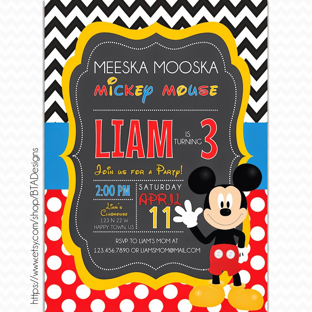 Best ideas about Mickey Mouse Photo Birthday Invitations . Save or Pin Mickey Mouse Printable Birthday Invitations Now.