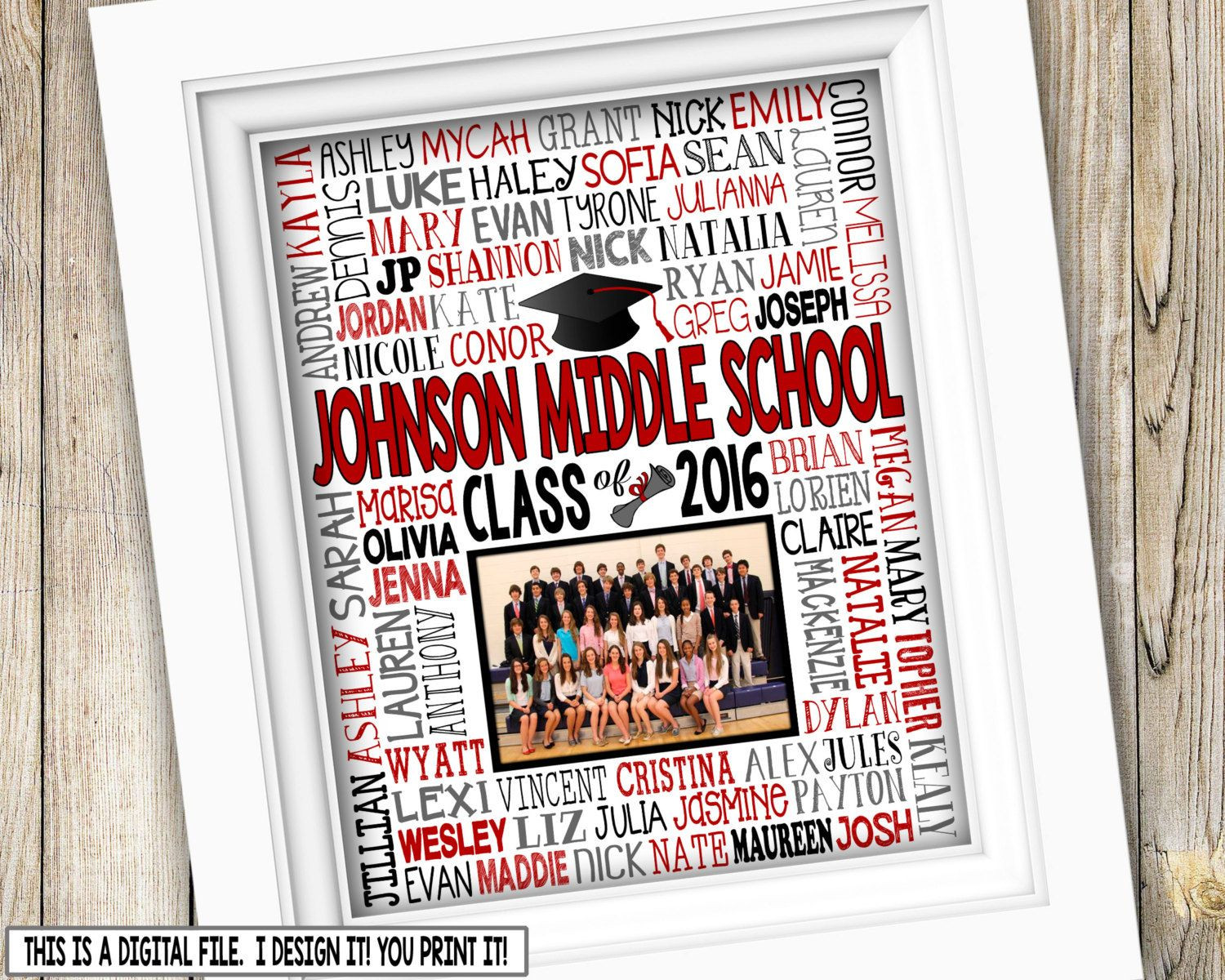 Best ideas about Middle School Graduation Gift Ideas . Save or Pin 8th Grade Graduation Gift Class Picture Printable Now.
