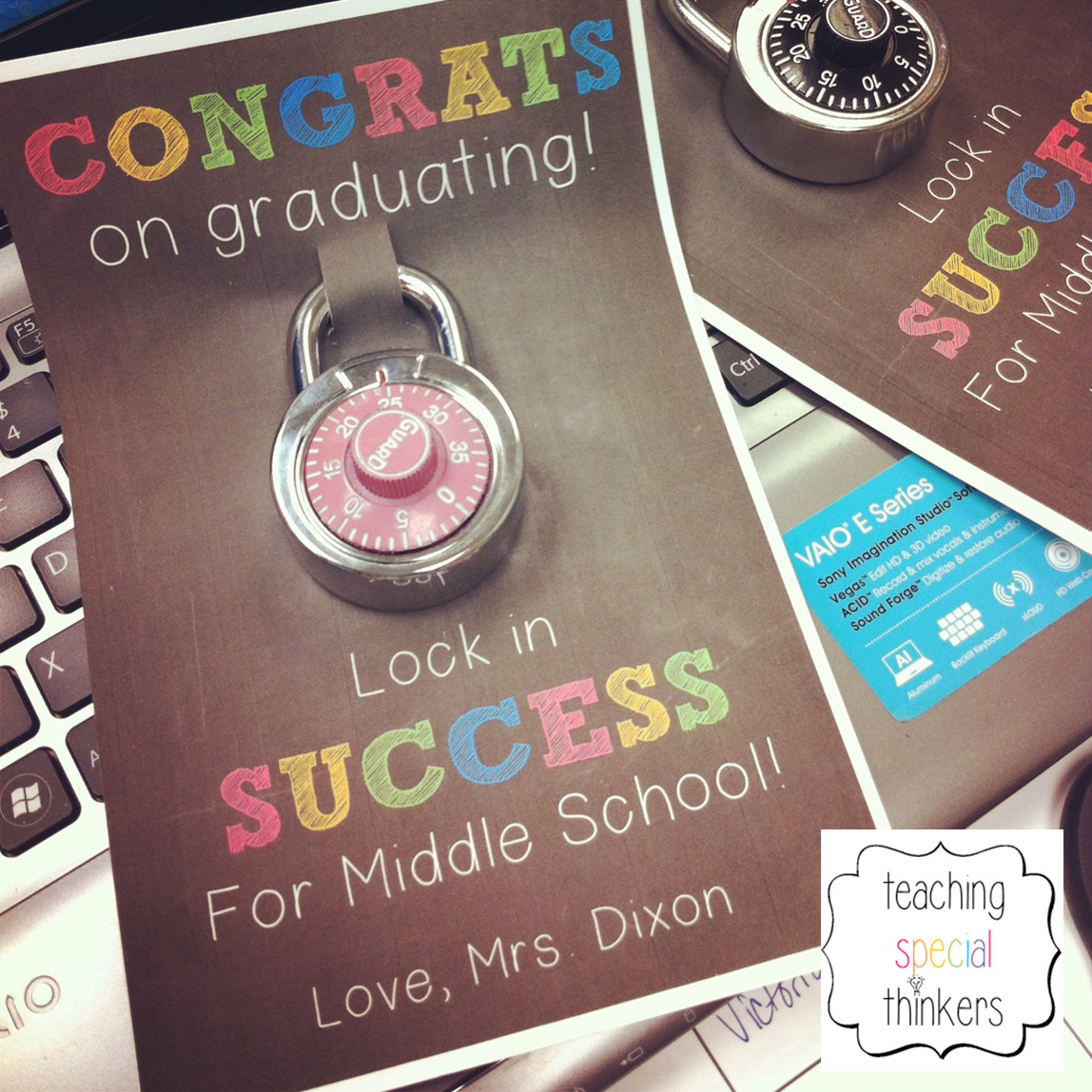 Best ideas about Middle School Graduation Gift Ideas . Save or Pin Lock in Success – Student Gift for soon to be Middle Now.