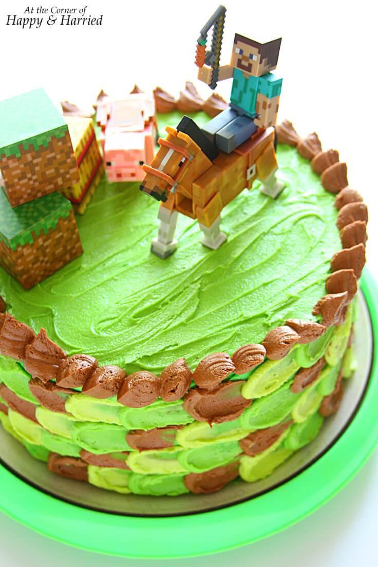 Best ideas about Minecraft Birthday Cake . Save or Pin Minecraft Themed Birthday Cake Now.