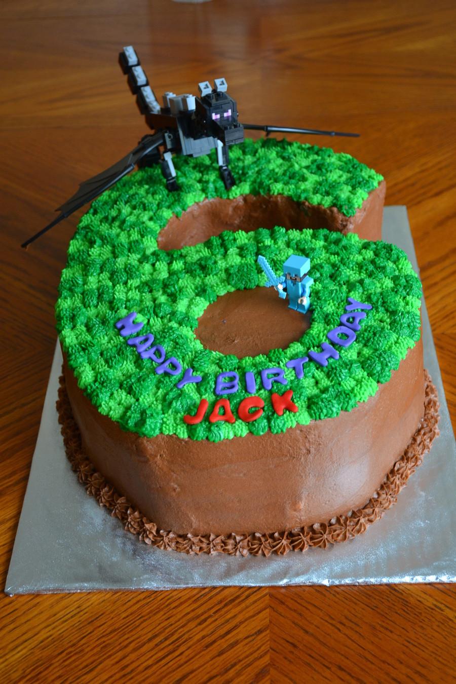 """Best ideas about Minecraft Birthday Cake . Save or Pin Minecraft """"6"""" Birthday Cake CakeCentral Now."""