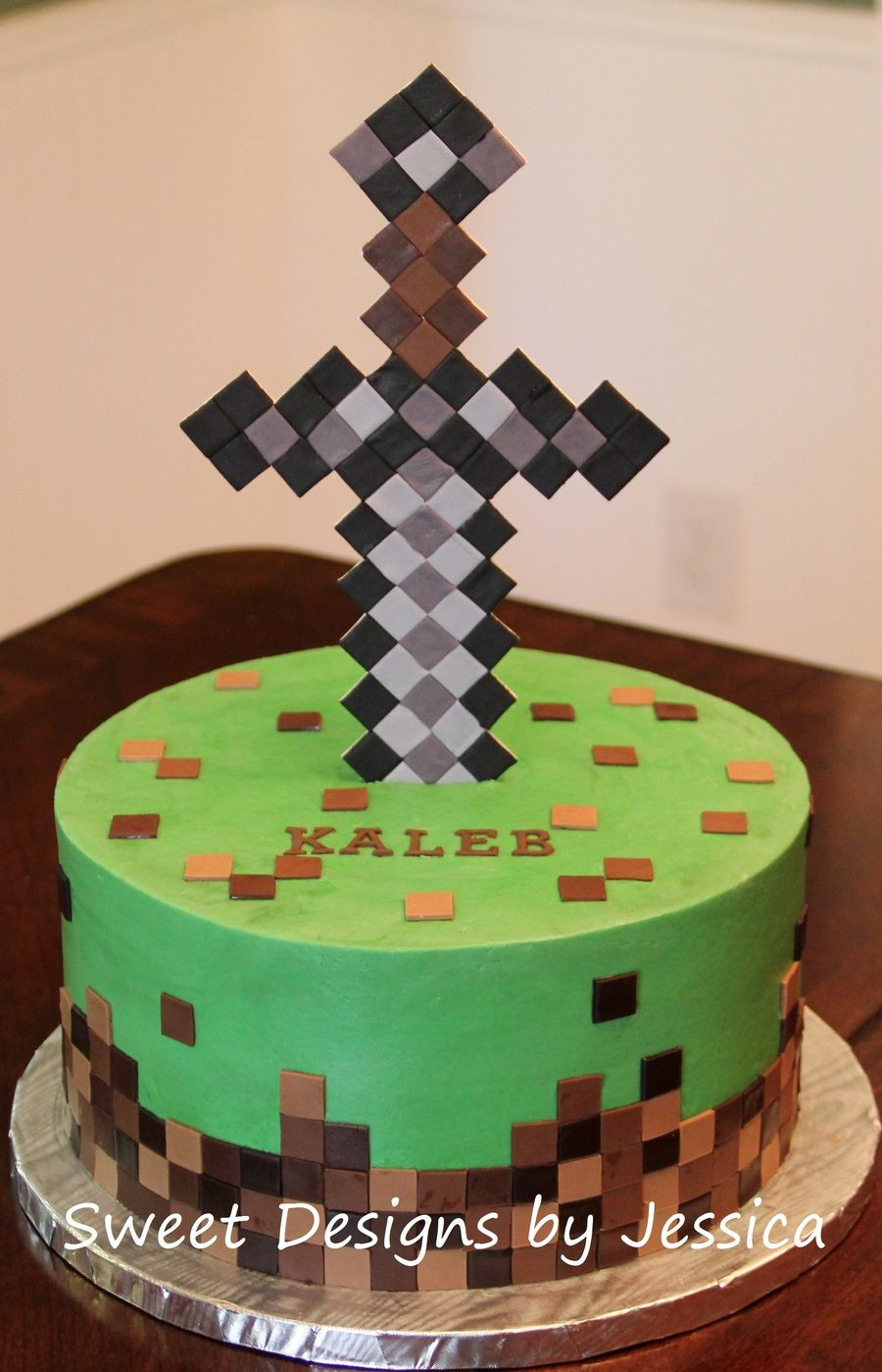 Best ideas about Minecraft Birthday Cake . Save or Pin Minecraft themed cake Now.