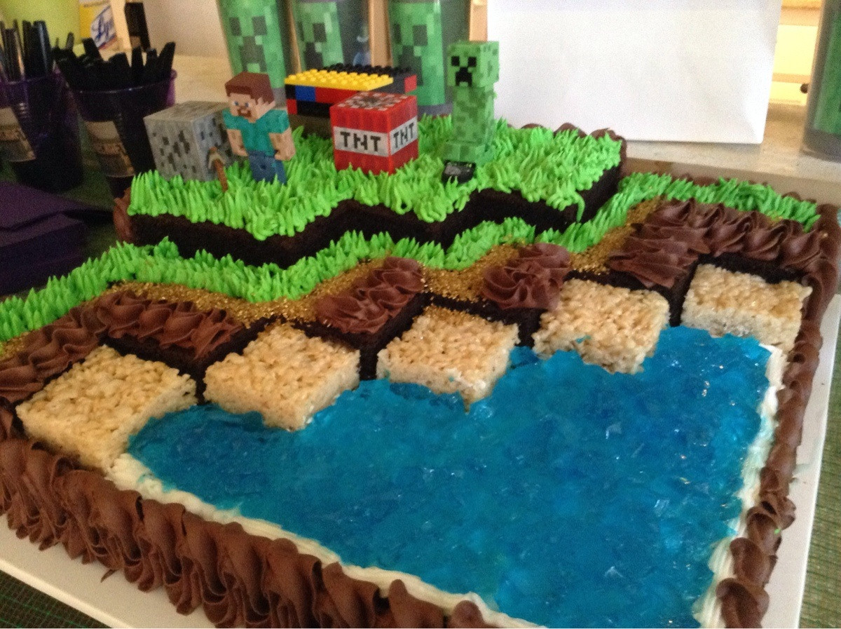 Best ideas about Minecraft Birthday Cake . Save or Pin I went to a little girl s Minecraft birthday party Here Now.