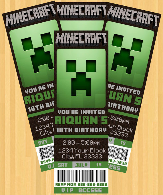 Best ideas about Minecraft Birthday Party Invitations . Save or Pin The Best Minecraft Party Ideas For The Ultimate Minecraft Now.