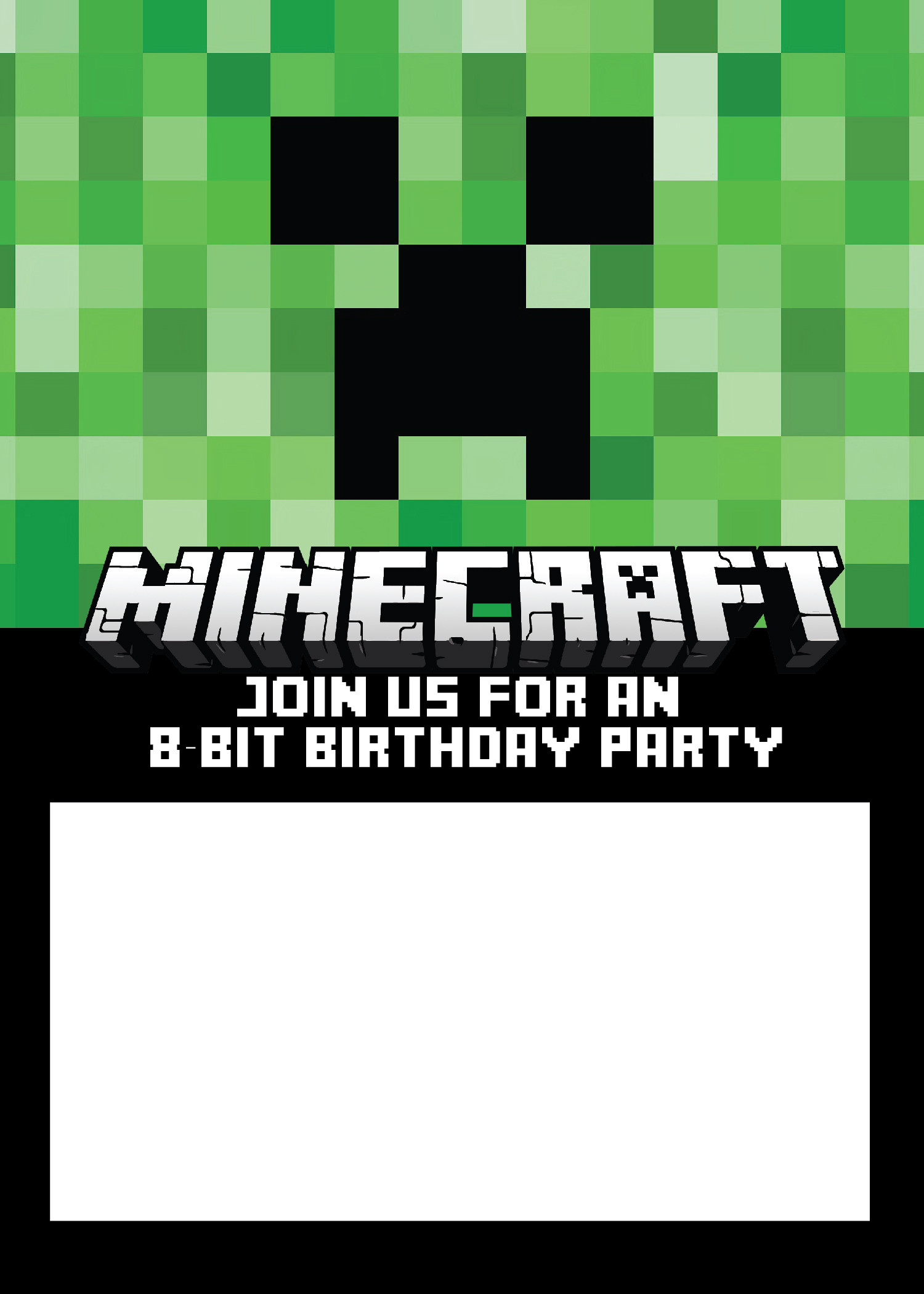 Best ideas about Minecraft Birthday Party Invitations . Save or Pin Free Minecraft Birthday Invitations Just Personalize and Now.