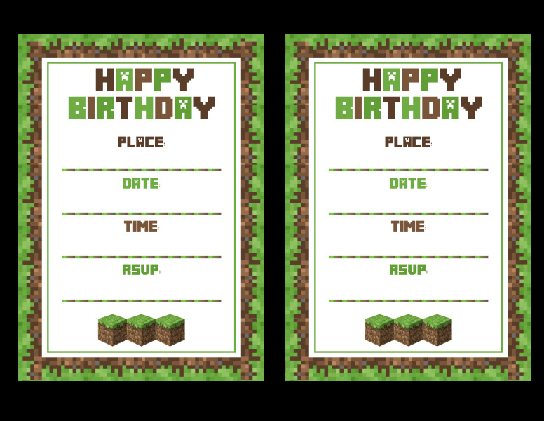 Best ideas about Minecraft Birthday Party Invitations . Save or Pin FREE Minecraft Printables Now.