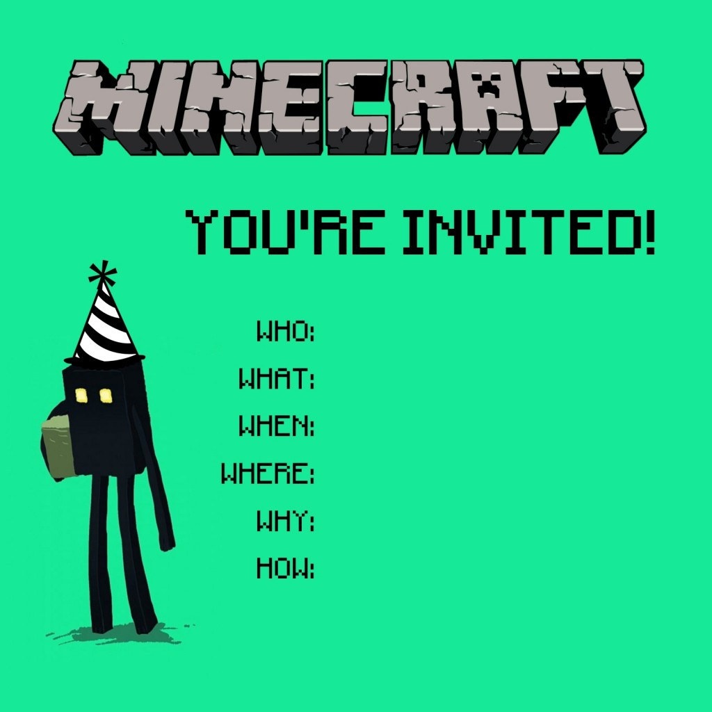 Best ideas about Minecraft Birthday Party Invitations . Save or Pin Minecraft Birthday Party Printables Crafts and Games Now.