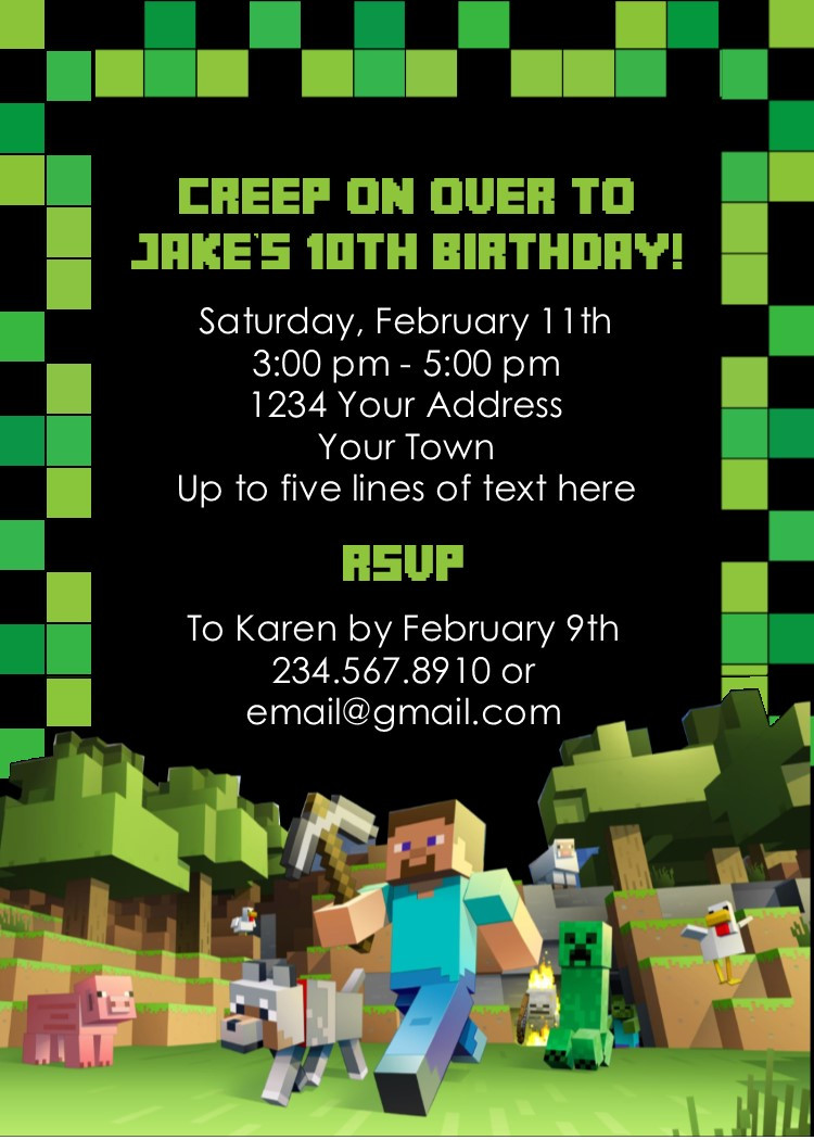 Best ideas about Minecraft Birthday Party Invitations . Save or Pin Minecraft Party Game Printable Scavenger Hunt Now.
