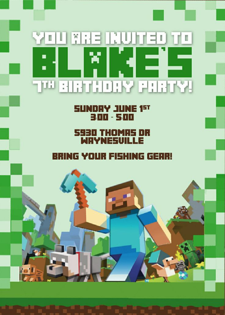 Best ideas about Minecraft Birthday Party Invitations . Save or Pin Minecraft invitation By Designsnow party Now.