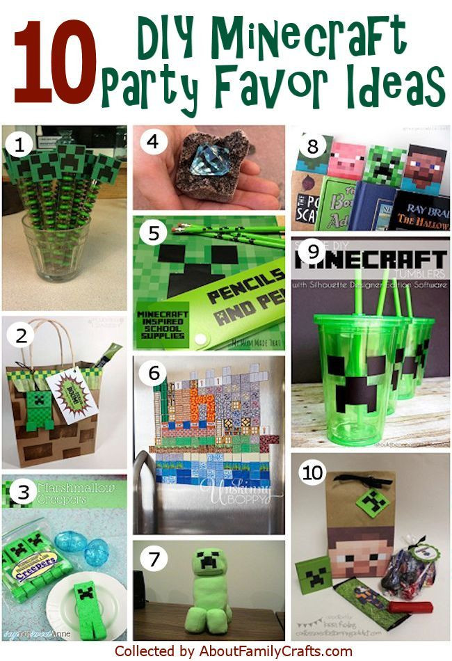 Best ideas about Minecraft Birthday Party Supplies . Save or Pin Minecraft Party Favors on Pinterest Now.