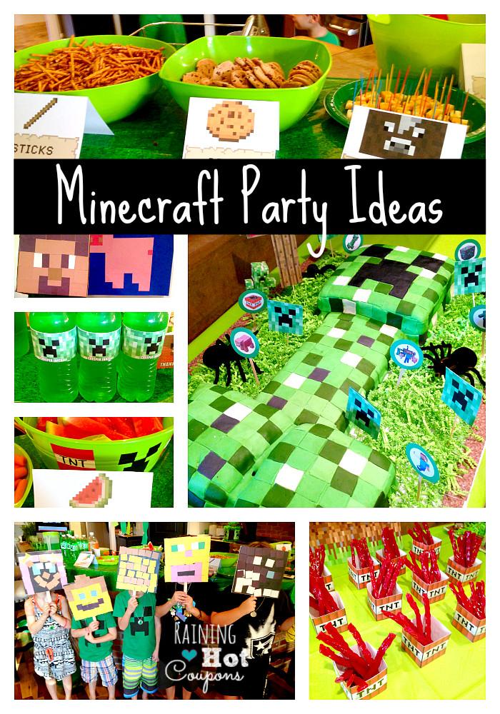 Best ideas about Minecraft Birthday Party Supplies . Save or Pin Minecraft Theme Birthday Party Ideas – Mind Food Now.
