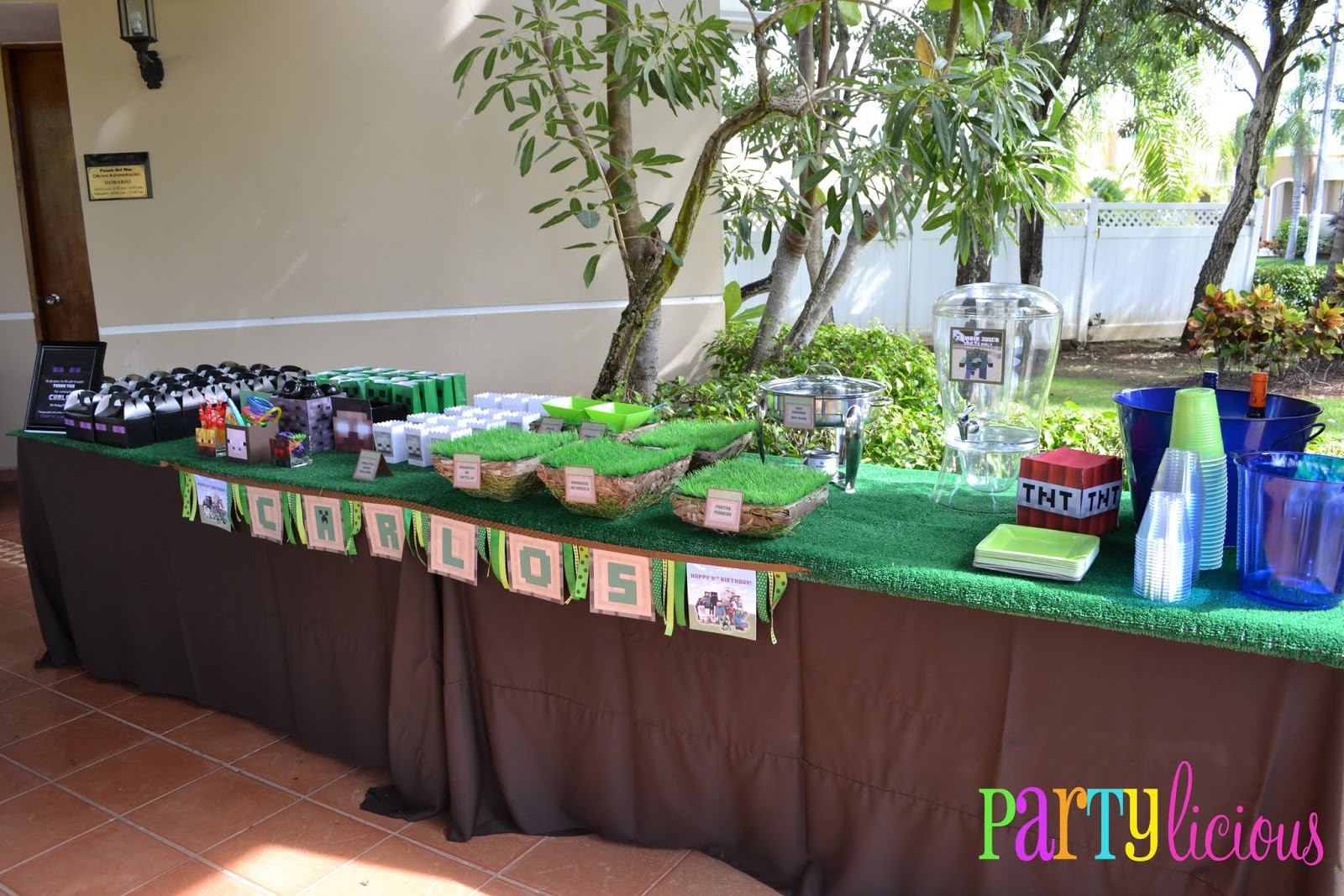 Best ideas about Minecraft Birthday Party Supplies . Save or Pin Partylicious Events PR Minecraft Birthday Party Now.