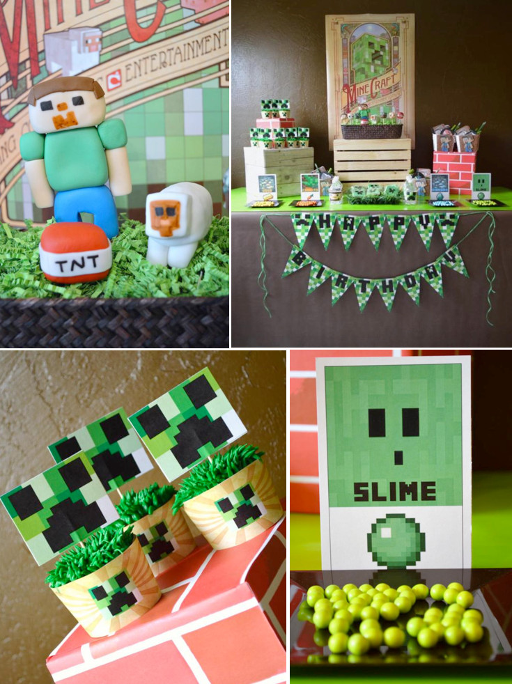 Best ideas about Minecraft Birthday Party Supplies . Save or Pin Vintage Minecraft Video Game Boy Birthday Party Planning Now.