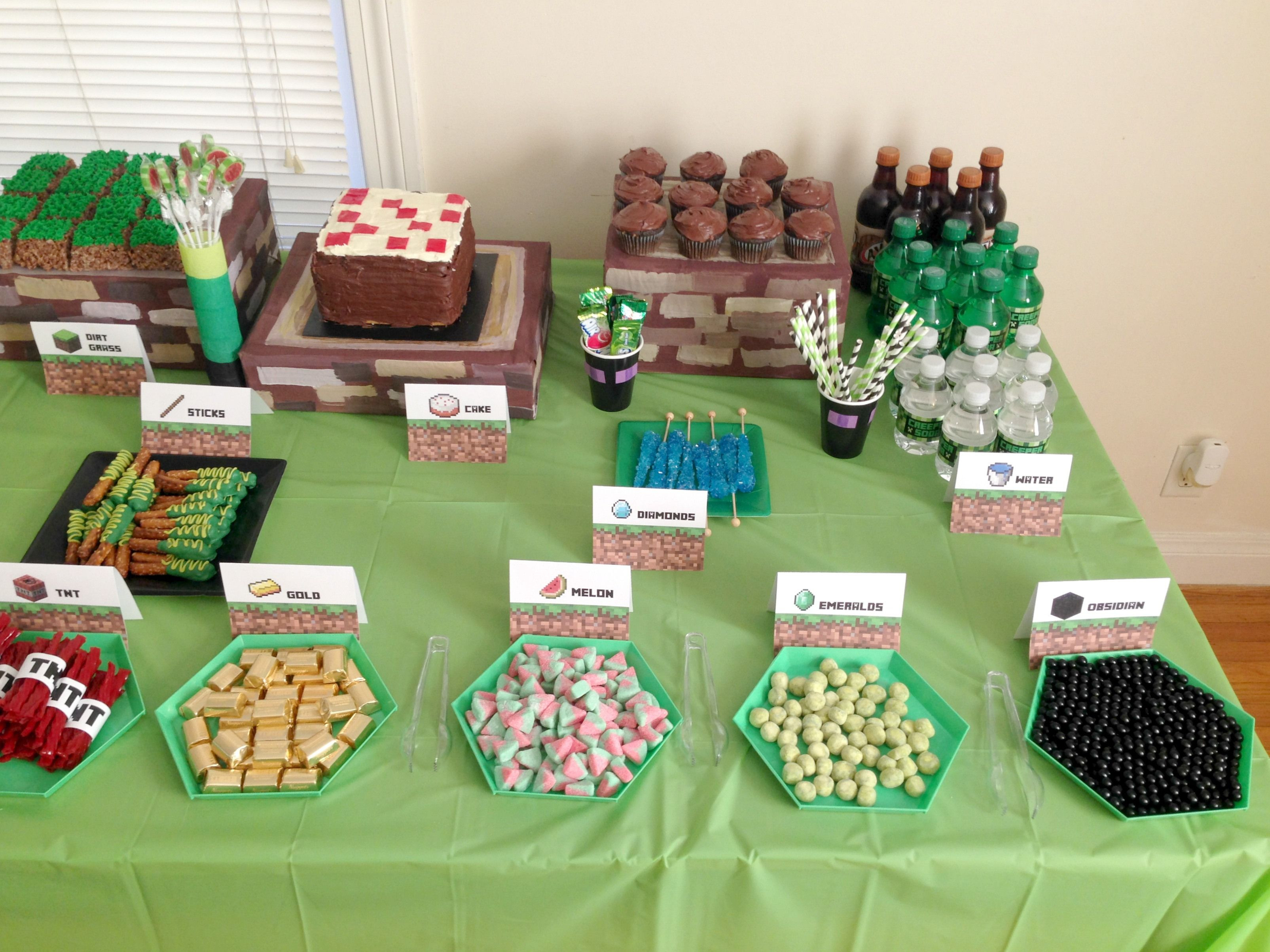 Best ideas about Minecraft Birthday Party Supplies . Save or Pin Happy Birthday Boys DIY Minecraft Birthday Party Now.