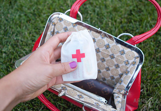 Best ideas about Mini First Aid Kit DIY . Save or Pin DIY stenciled mini first aid kits Now.