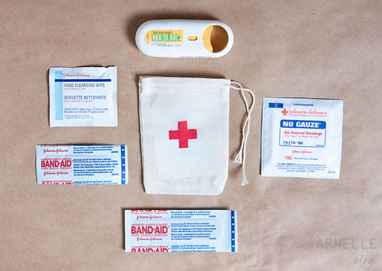 Best ideas about Mini First Aid Kit DIY . Save or Pin Armelle Blog stenciled mini first aid kits Now.