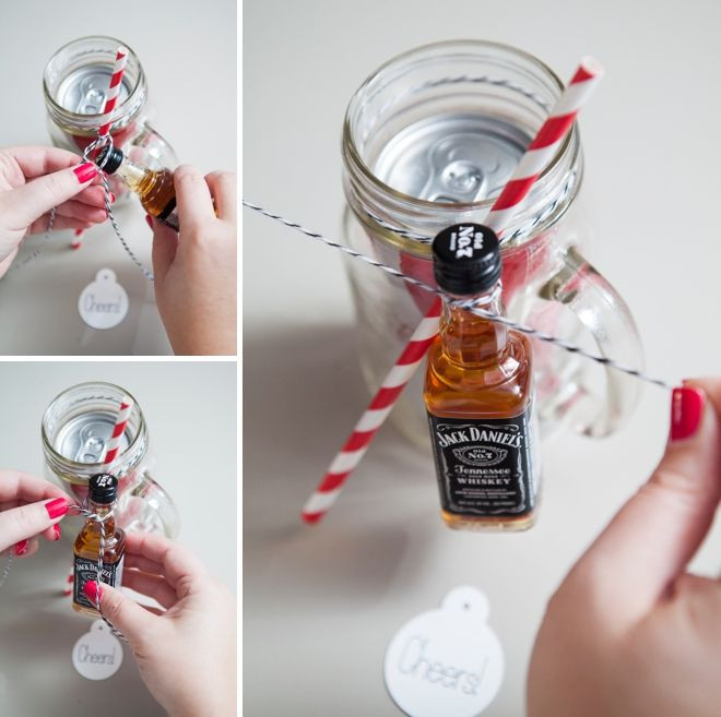 Best ideas about Mini Liquor Bottle Gift Ideas . Save or Pin The Original DIY Mason Jar Cocktail Gifts Now.