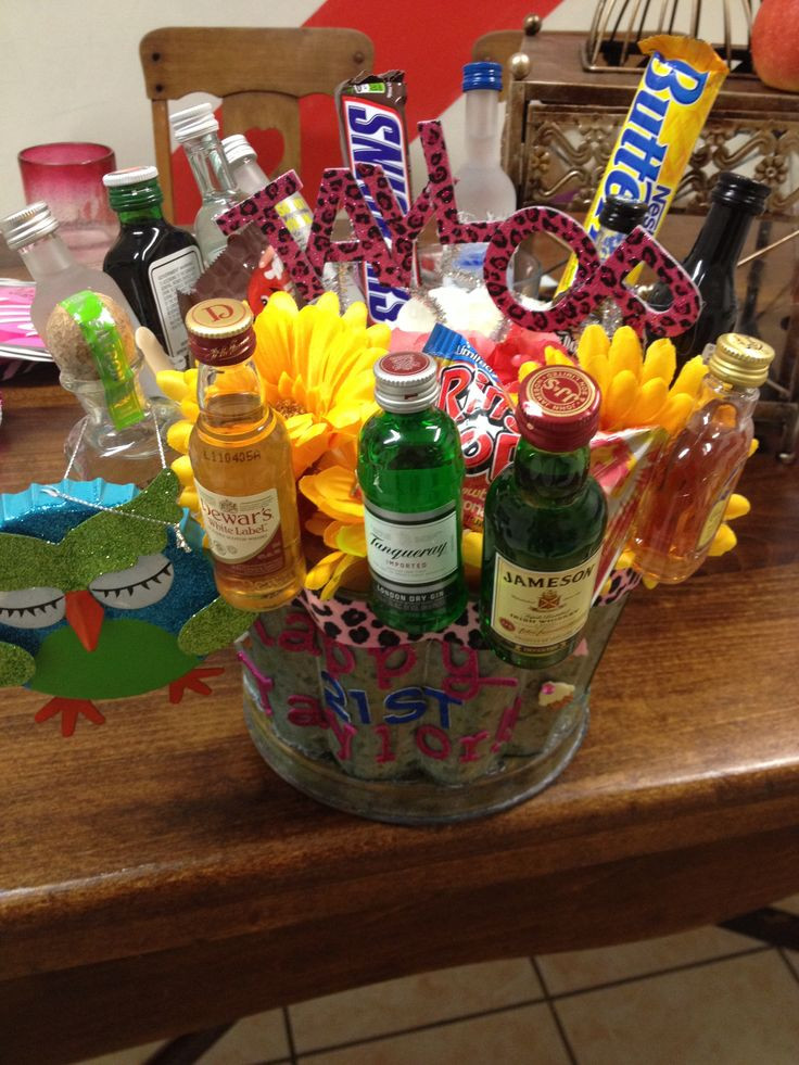 Best ideas about Mini Liquor Bottle Gift Ideas . Save or Pin Amazing 21st birthday present Mini alcohol bottle bouquet Now.