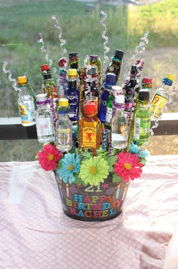 Best ideas about Mini Liquor Bottle Gift Ideas . Save or Pin Bouquet Alcohol Now.