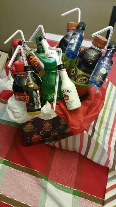 Best ideas about Mini Liquor Bottle Gift Ideas . Save or Pin Mini alcohol bottles and mini soda bottles in a t Now.