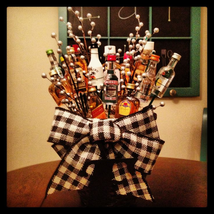 Best ideas about Mini Liquor Bottle Gift Ideas . Save or Pin Mini liquor bottle bouquet My DIY Creations Now.